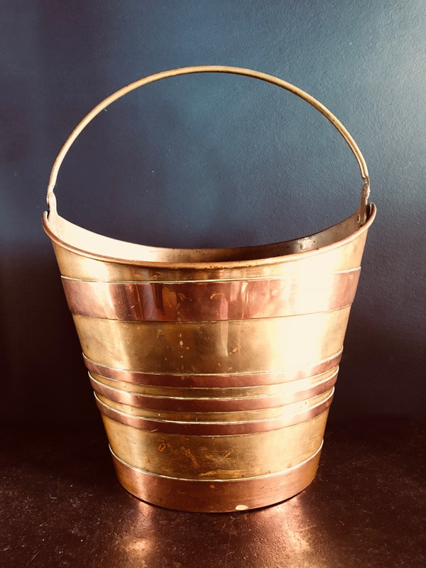 Antique French Oyster Bucket-20th-century-filth-brass-bucket-1-main-636897174675383055.jpg