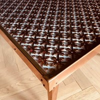 Unusual copper coffee Table