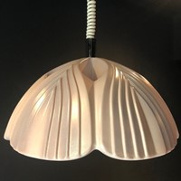 Pale Lilac Rise & Fall Ceramic Pendant Light