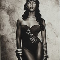Original photograph of Naomi Campbell by Karl Lage