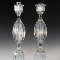 Pair of Seguso candlesticks 3 by John Loring