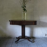 Regency folding side table