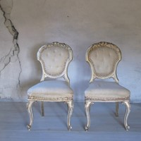 Pair of gilded chairs