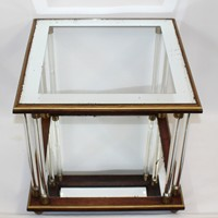 Glass and acrylic Vintage Table