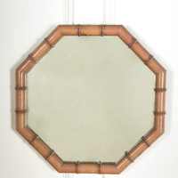 Wonderful 20C French faux bamboo mirror