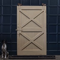 19thC Oversized Sliding Barn Door