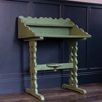 19thC French Painted Oak Provincial Washstand