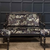 19thC Napoleon III Ebonised Salon Suite