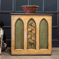 Decorative Painted Chapel Cupboard