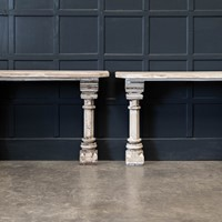 19thC Pair York Pulpit Console Tables