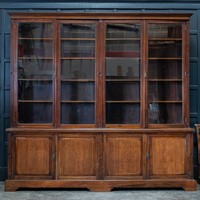 Large Mahogany Glazed Country House Bookcase