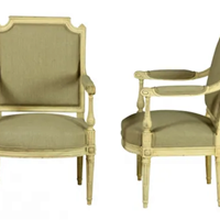 Pair of Louis XVI Revival Fauteuils
