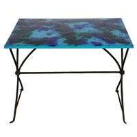 French Enamel Top Iron Table
