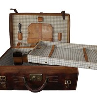 Gentleman's Leather Vanity Suitcase