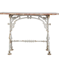 Beautiful Cast Iron Table with Marble Top