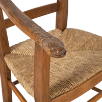 Art-populaire carved Ssssserpent armchair!