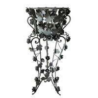 Decorative iron jardiniere