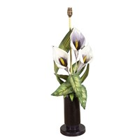 VINTAGE Arum lily table lamp