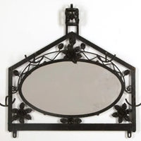 1930's  mirrored coat/hat rack