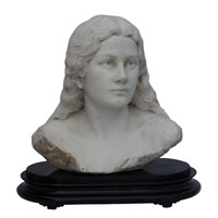 Marble bust by luca madrassi