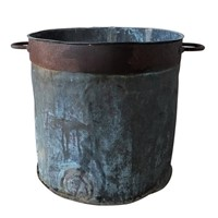 Verdigris copper vat