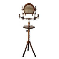 Equestrian theme gentleman's shaving mirror table