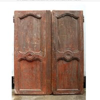 Pair of  Early 19th C. French Armoire Doors