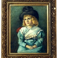 19thC. Gouache Painting of  Young Boy from Paris