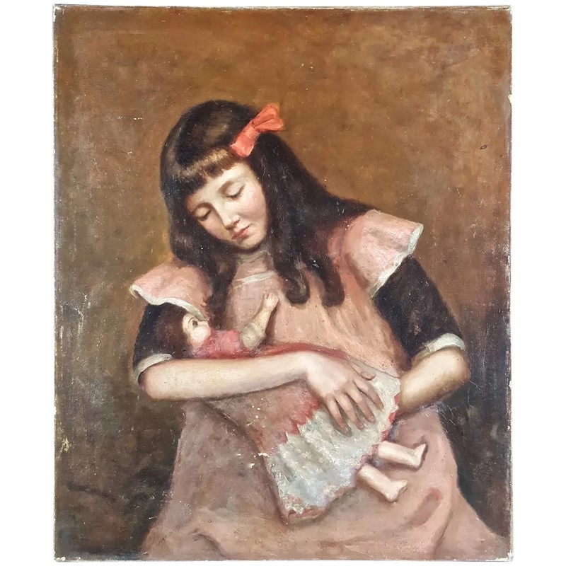 19thC.Oil Painting of Young Girl Cradling Her Doll-aeology-at-relic-antiques-late-19th-century-oil-painting-france-full-1a-2048-1010-3271c954-f-main-637371523814907935.jpg