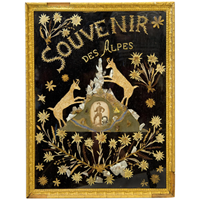 19th C.Folk Art Picture from the French Alps