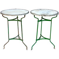 Pair of Vintage  Street Café Tables from Barcelona