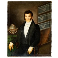 Large Oil Portrait of Early 19th C. Frenchman