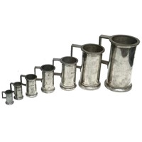 Set of Antique Pewter Spirit Measures from France