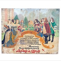 Hand Painted Antique Advertising Sign from France