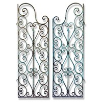 Pair of Decorative 19th Century French Iron Gates