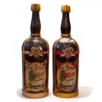 Pair of Giant Advertising Rum Bottles from France