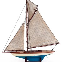 Small  Vintage Scratch built Pond Sailing Boat