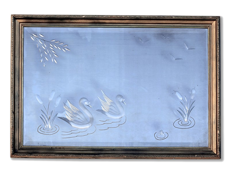60's Brilliant Cut Pub Mirror with Swans & Lillies-aeology-at-relic-antiques-relic-antiques-70281-2-main-637422713394989554.jpg