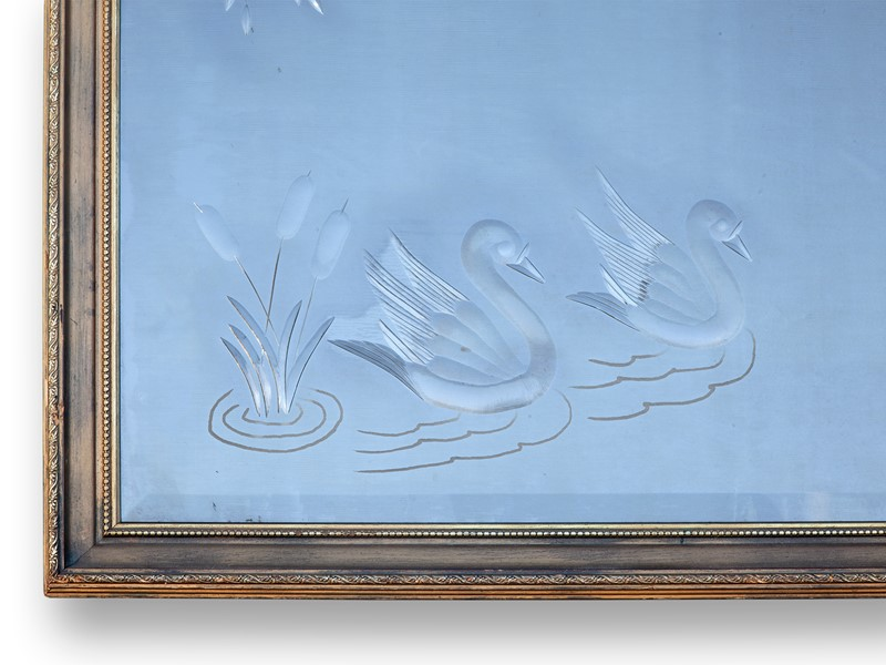 60's Brilliant Cut Pub Mirror with Swans & Lillies-aeology-at-relic-antiques-relic-antiques-70291-main-637422713375458464.jpg