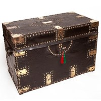 Victorian Brass & LeatherBound Camphorwood Trunk