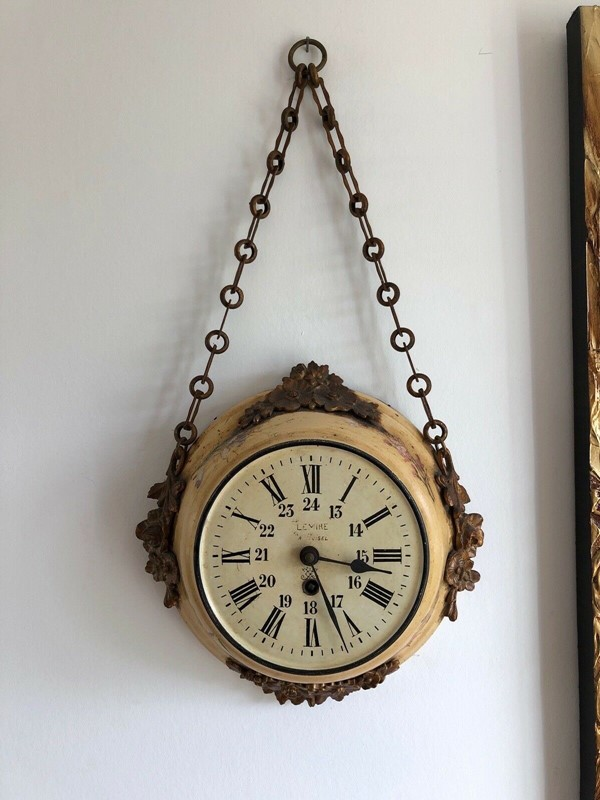 19thC. Chain hanging Wall Clock from France-aeology-at-relic-antiques-s-l1600-2-main-637237582585901532.jpg