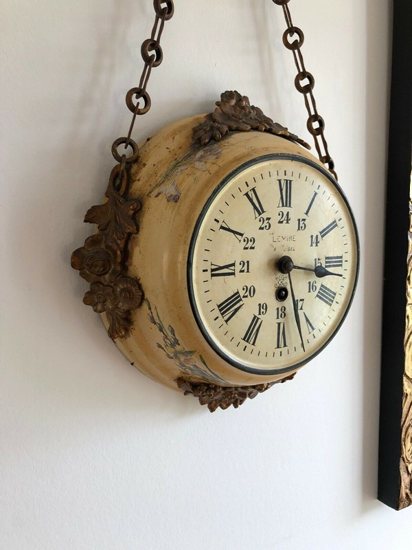 19thC. Chain hanging Wall Clock from France-aeology-at-relic-antiques-s-l1600-7-main-637237582928555547.jpg