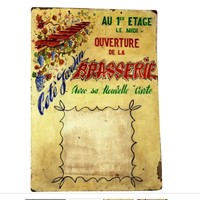 Beautiful Painted Menu Sign for French Brasserie