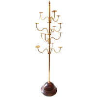 Tall Brass Hat Display Stand from Northern England