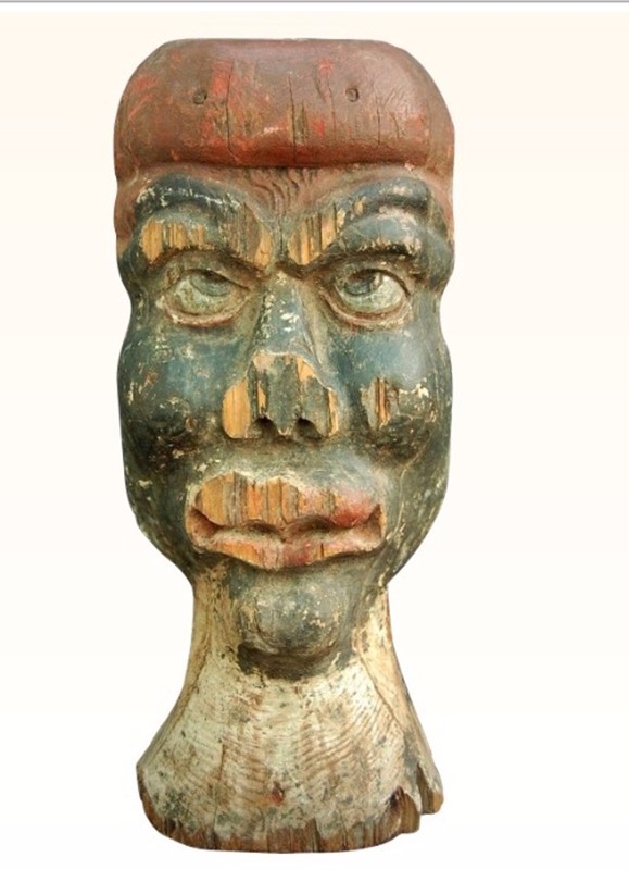 Fairground 'African' Target Head  from France-aeology-at-relic-antiques-tgtt-main-637174542401922151.jpg