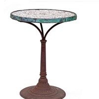 Decorative  Mosaic Top Café Table from Paris