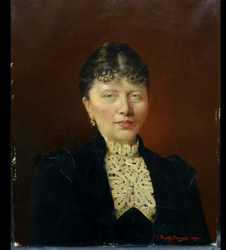 19thC.Signed Oil Portrait of a Parisienne.-aeology-at-relic-antiques-womann-main-637172902019876772.jpg