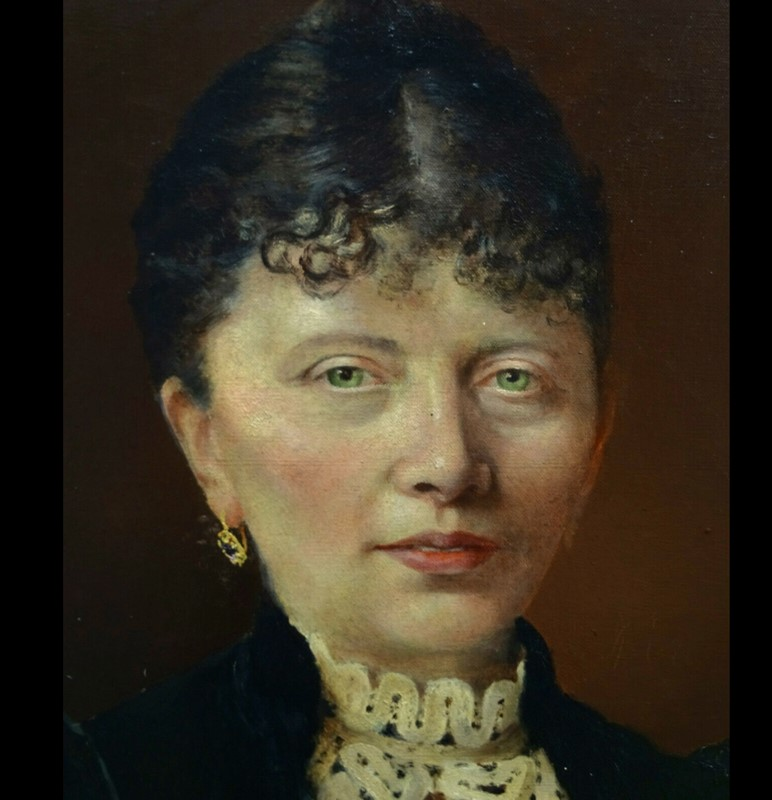 19thC.Signed Oil Portrait of a Parisienne.-aeology-at-relic-antiques-womannn-main-637172901832681122.jpg
