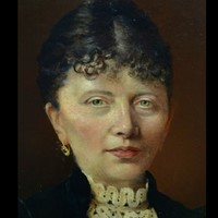 19thC.Signed Oil Portrait of a Parisienne.