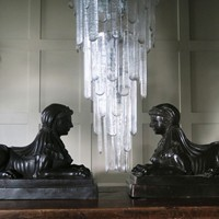 Pair of Bronze Sphinxes